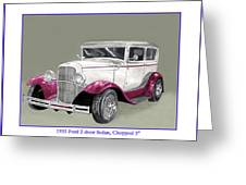 1931 Ford 2 Door Sedan Street-rod Greeting Card