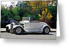 1931 Ford 'model A' Roadster Greeting Card