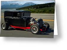 1931 Ford Model A Sedan Hot Rod Greeting Card