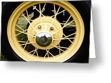 Antique Car Tire Rim Greeting Card
