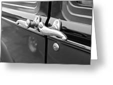 1931 Ford Model T Door Handles Greeting Card
