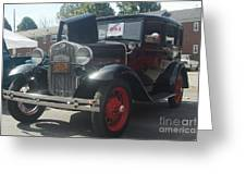 1931 Ford Sedan Greeting Card