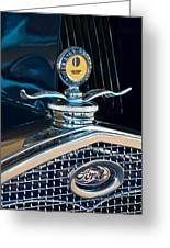 1931 Model A Ford Deluxe Roadster Hood Ornament Greeting Card