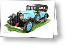 1931 Studebaker President Greeting Card