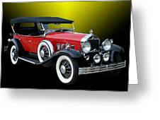 1931 Willys Knight Plaid Side Greeting Card