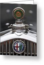 1932 Alfa-romeo Hood Ornament 2 Greeting Card