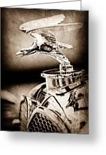 1932 Alvis Hood Ornament - Emblem Greeting Card
