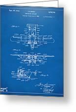 1932 Amphibian Aircraft Patent Blueprint Greeting Card