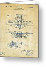 1932 Amphibian Aircraft Patent Vintage Greeting Card