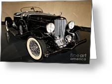 1932 Auburn Boattail Speedster Greeting Card