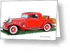 1932 Cadillac Rumbleseat Coupe Greeting Card