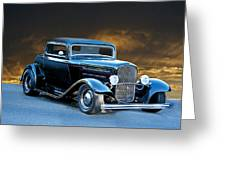 1932 Deuce Coupe Greeting Card