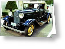 1932 Ford Cabriolet Greeting Card