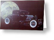 1932 Ford Coupe-harvest Moon Coupe Greeting Card