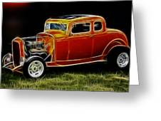 1932 Ford Fenderless Coupe Greeting Card