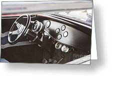 1932 Ford Highboy Dashboard Car Automobile In Color  3108.02 Greeting Card