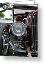 1932 Ford Roadster Head Lamp View Greeting Card