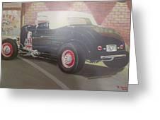 1932 Ford Roaster At Deuce's Saloon Greeting Card