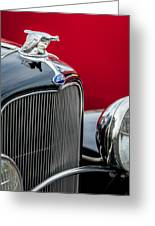 1932 Ford V8 Grille - Hood Ornament Greeting Card