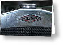 1932 Frazer Nash Tt Radiator Badge Greeting Card