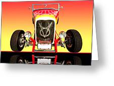 1932 Front Ford V8 Hotrod Greeting Card