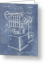 1932 Machine Patent Greeting Card