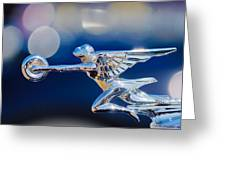 1932 Packard 12 Convertible Victoria Hood Ornament -0251c Greeting Card