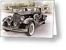 1932 Packard 903 Victoria Greeting Card