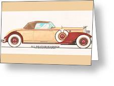 1932 Packard All Weather Roadster By Dietrich Concept Greeting Card