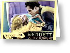 1933 - After Tonight Motion Picture Poster - Constance Bennet - Gilbert Roland - Color Greeting Card