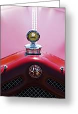 1933 Alfa Romeo P-2 Monza Hood Ornament Greeting Card