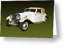 1933 Bentley 3  5  Liter Drop Head Coupe Greeting Card