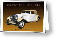 Bentley Derby D H C  Greeting Card