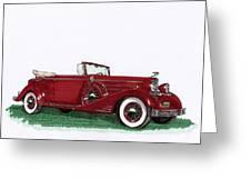 1933 Cadillac Convert Victoria Greeting Card by Jack Pumphrey
