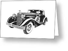 Cadillac Victoria V 16 Convertible Greeting Card