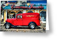 1933 Chevy Delivery Truck Red Greeting Card