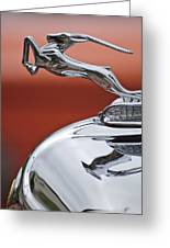 1933 Chrysler Cl Imperial Hood Ornament Greeting Card