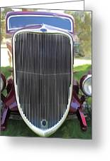 1933 Ford Grille Greeting Card