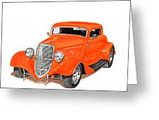 1933 Ford Three Window Coupe Greeting Card