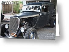 1933 Ford Two Door Sedan Front And Side View Greeting Card