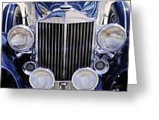 1933 Packard 12 Convertible Coupe Grille Greeting Card
