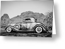 1933 Pontiac -0008bw Greeting Card