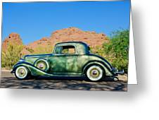 1933 Pontiac -0008c Greeting Card