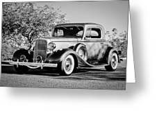 1933 Pontiac -0011bw Greeting Card
