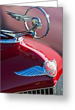 1933 Pontiac Hood Ornament 3 Greeting Card