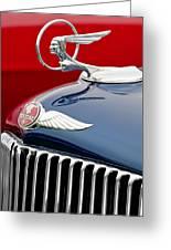 1933 Pontiac Street Rod Hood Ornament Greeting Card