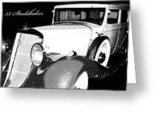 1933 Studebaker Digital Art Greeting Card