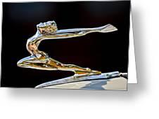 1934 Buick Goddess Hood Ornament Greeting Card