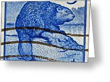 1954 Canada Beaver Stamp Greeting Card