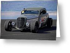 1934 Ford 'autocross' Coupe 2 Greeting Card